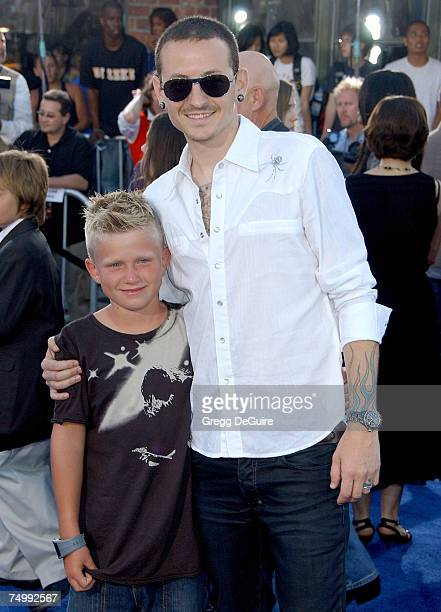 Chester Bennington of Linkin Park and son Isaiah