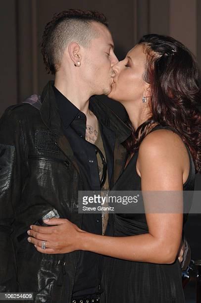 Chester Bennington of Linkin Park and wife Talinda Bennington