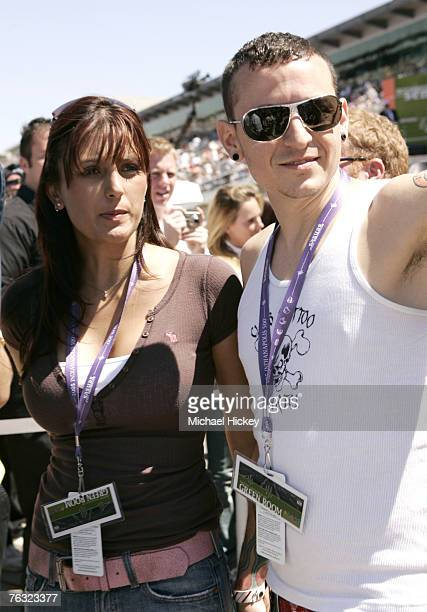 Chester Bennington of Linkin Park at the Indy 500