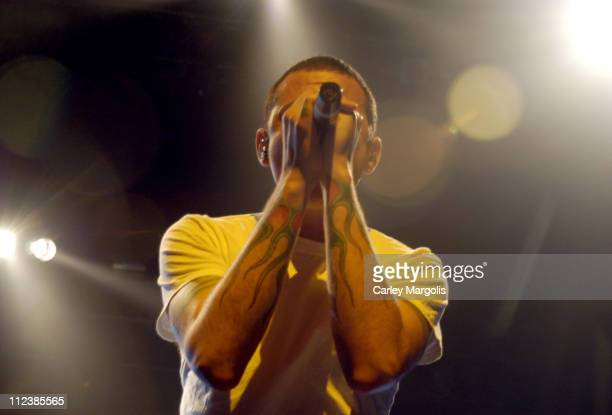 Chester Bennington of Linkin Park during KRock ClausFest 2003 Day One at Hammerstein Ballroom in New York City New York United States