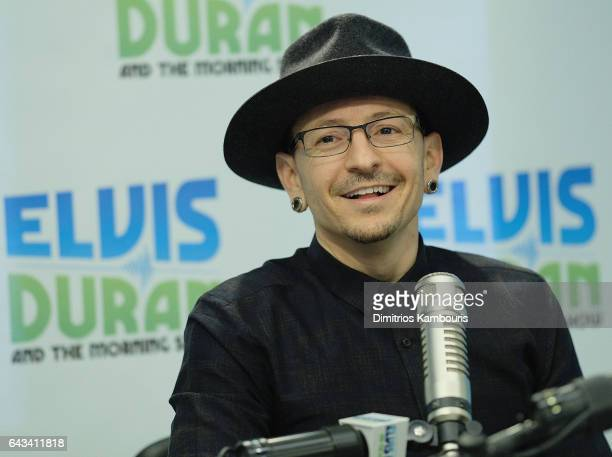 Chester Bennington visits The Elvis Duran Z100 Morning Show at Elvis Duran Offices on February 21 2017 in New York City