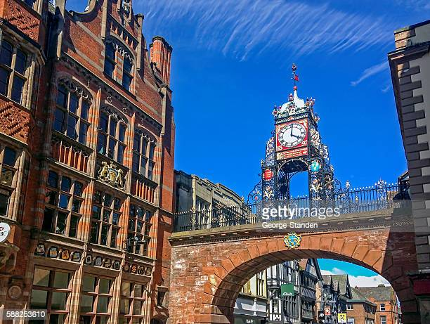 Chester Clock Over Chester Walls