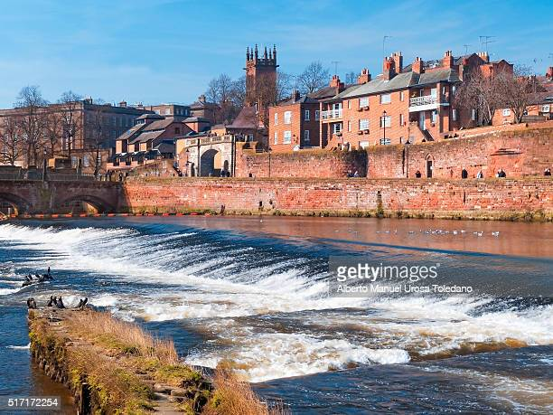 Chester,  Dee River, citywalls and bridge