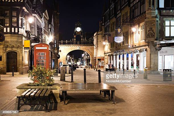 Chester Eastgate at night