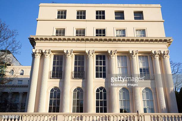 chester terrace in regent's park, london - regency style stock photos and pictures