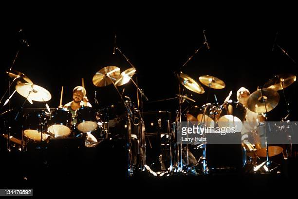 Chester Thompson and Phil Collins performing with 'Genesis' at the Greek Theater in Berkeley California on August 13 1982