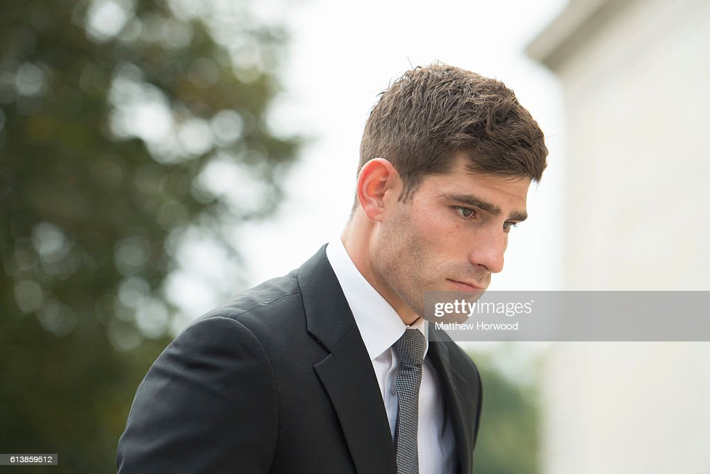 Footballer Ched Evans Arrives At Court For His Retrial On Rape Charges : News Photo