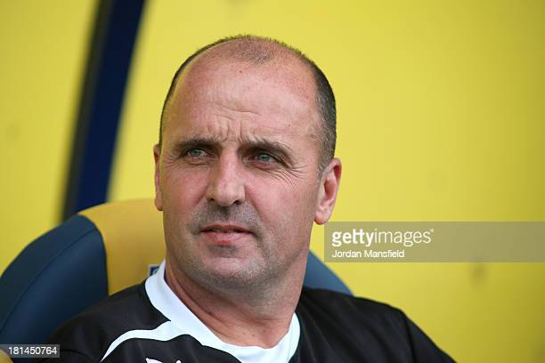 Chesterfield FC Manager Paul Cook looks on during the Sky Bet League Two match between Oxford United and Chesterfield at Kassam Stadium on September...