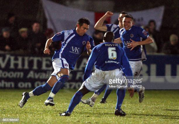 Chesterfield's Darren Currie celebrates with teammates after scoring his sides second goal