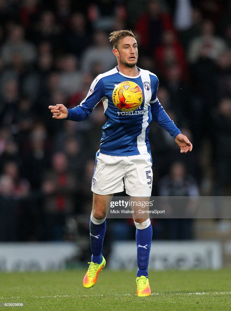 Chesterfield's Gary Liddle during the Sky Bet League One match between Chesterfield and Sheffield United at Proact Stadium on November 13, 2016 in Chesterfield, England.