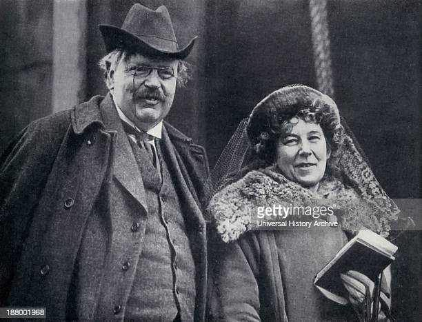 G K Chesterton 1874 1936 English Author With His Wife Frances Blogg From The Chestertons By Mrs Cecil Chesterton Published London 1941