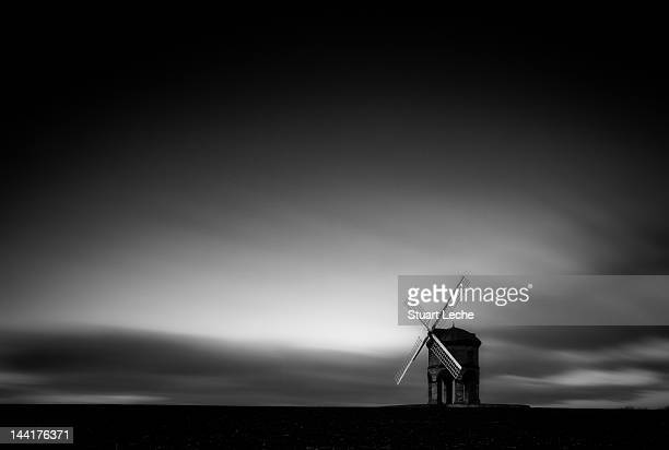 chesterton windmill at dusk - chesterton stock photos and pictures