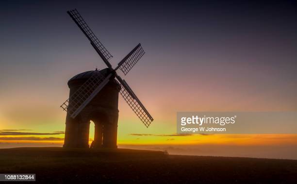 chesterton windmill iii - windmill stock pictures, royalty-free photos & images