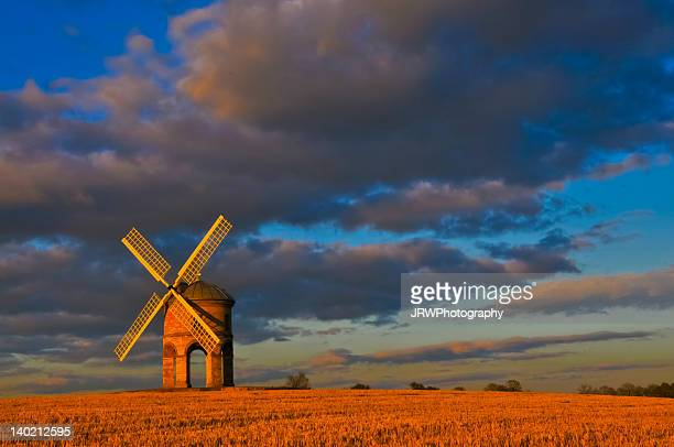 chesterton windmill in late afternoon - chesterton stock photos and pictures
