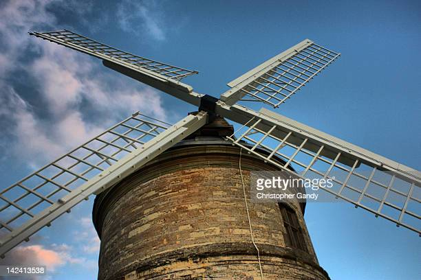 chesterton windmill - traditional windmill stock photos and pictures