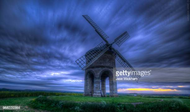 chesterton windmill sunset - chesterton stock photos and pictures