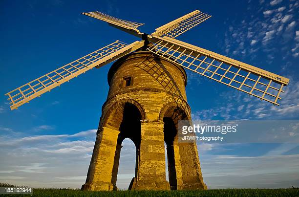 chesterton windmill ultra wide angle - chesterton stock photos and pictures