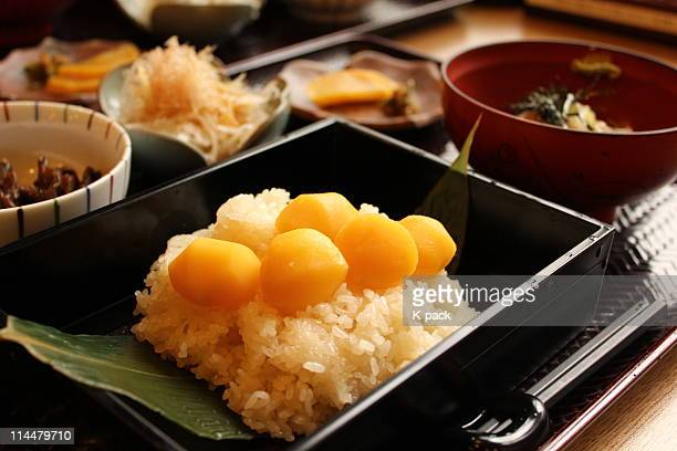 chestnut rice - chestnut food stock pictures, royalty-free photos & images