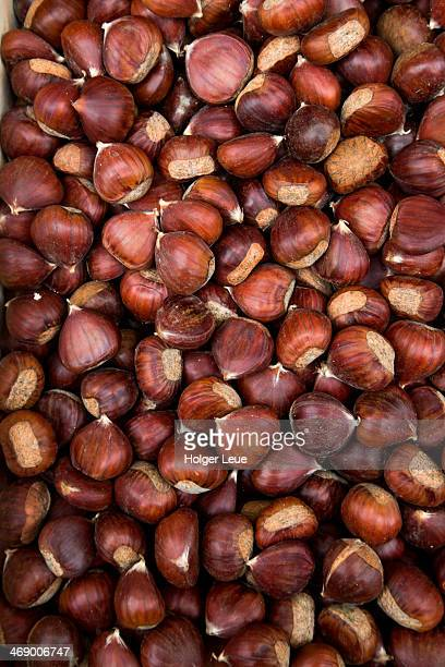 Chestnuts for sale at market stand
