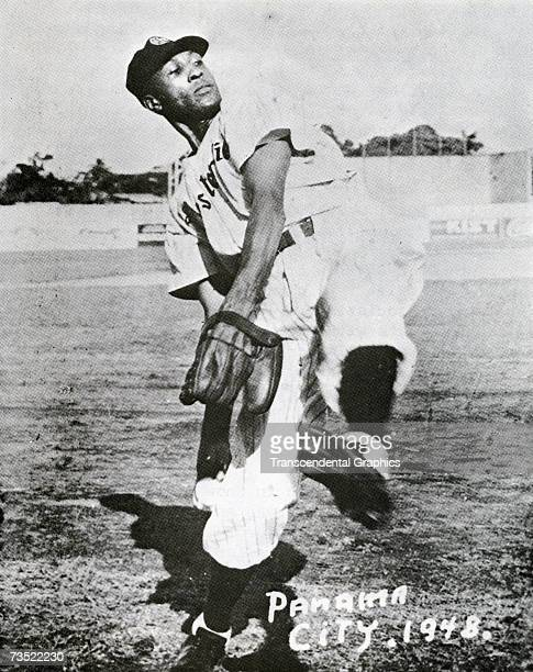 Chet Brewer star American Negro League pitcher works on the mound for the Panama City team in 1935