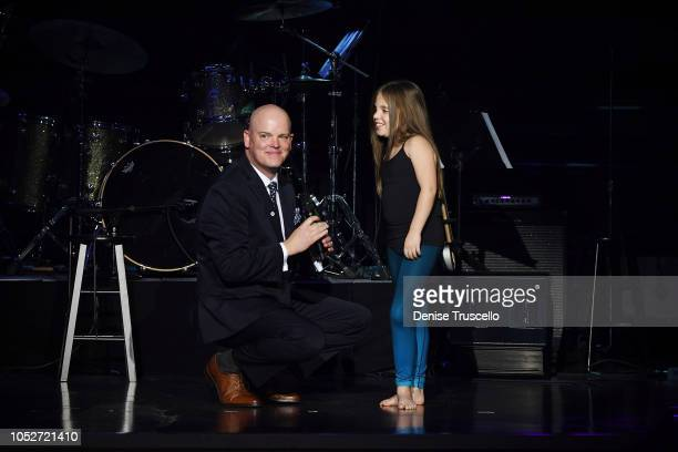 Chet Buchanan and Emma Leibow during Las Vegas's 8th annual NF Hope Concert A Benefit for Neurofibromatosis at the Palazzo Theatre at The Palazzo Las...