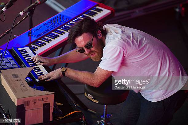 Chet Faker performs on stage during Falls Festival on December 30 2013 in Lorne Australia