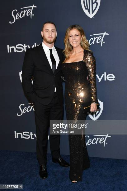 Chet Hanks and Rita Wilson attend the 21st Annual Warner Bros And InStyle Golden Globe After Party at The Beverly Hilton Hotel on January 05 2020 in...