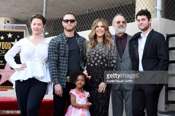 Chet Hanks Rita Wilson Tom Hanks and Truman Hanks attend the ceremony honoring Rita Wilson with Star on the Hollywood Walk of Fame on March 29 2019...
