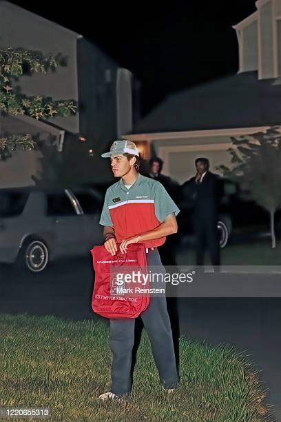 Chet Lott the son of Senator Trent Lott delivers pizza to the home of Judge Clarence Thomas as the judge and friends where waiting the vote of the...