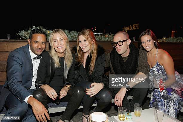 Chet Mehta Stacey Todd Erynn Todd Ryan Evans and Jenna Klein attend PR DEPT Celebrates #onedown 1 Year Anniversary Party at Thompson Hotel on October...