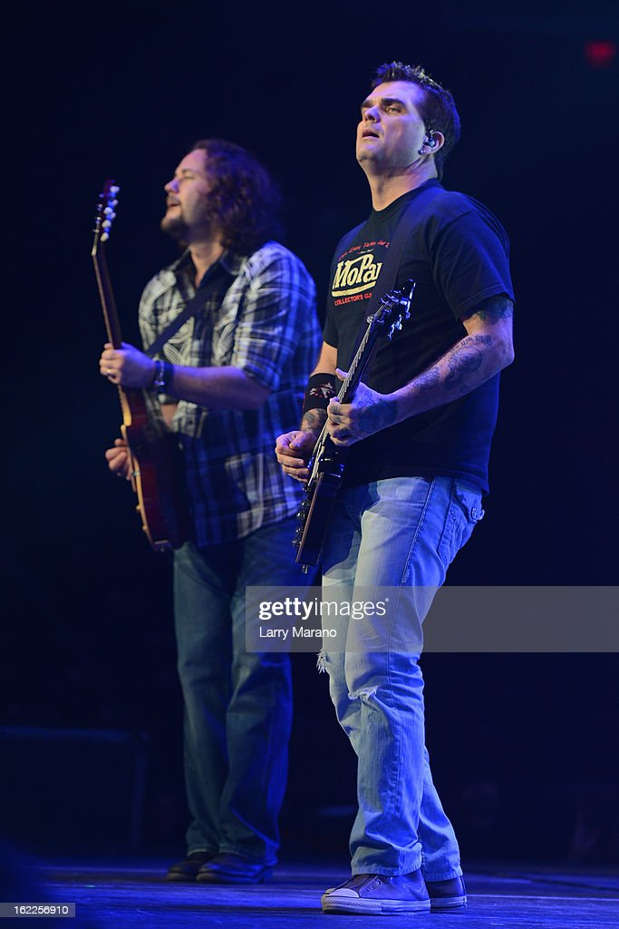 Chet Roberts and Chris Henderson of 3 Doors Down perform at BBu0026T Center on February 20  sc 1 st  Getty Images & 3 Doors Down Perform At BBu0026T Center Photos and Images | Getty Images