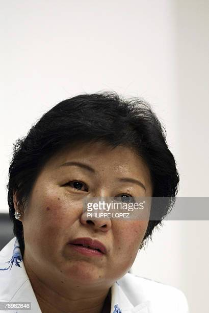 Cheung Yan chairwoman of China's largest paperboard producer Nine Dragons Paper is seen at the company's headquarters in Hong Kong 03 May 2007 The...