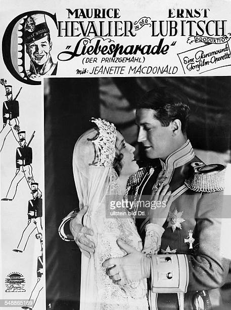 Chevalier, Maurice - Actor, France - *12.09.1888-+ Scene from the movie 'The Love Parade' mit Jeanette MacDonald Directed by: Ernst Lubitsch USA 1929...