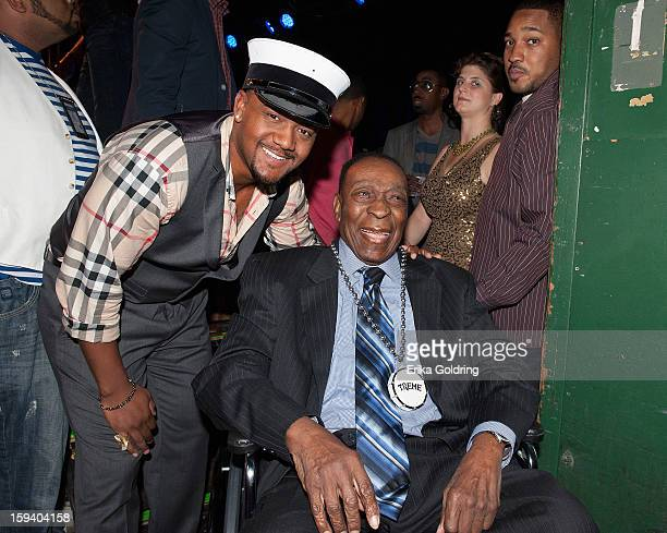 """Chevis Brimmer, grandson of Fats Domino, and Rock and Roll Hall of Fame member Dave Bartholomew attend """"My Lil' Darlin': An HBO Treme All Star Revue""""..."""