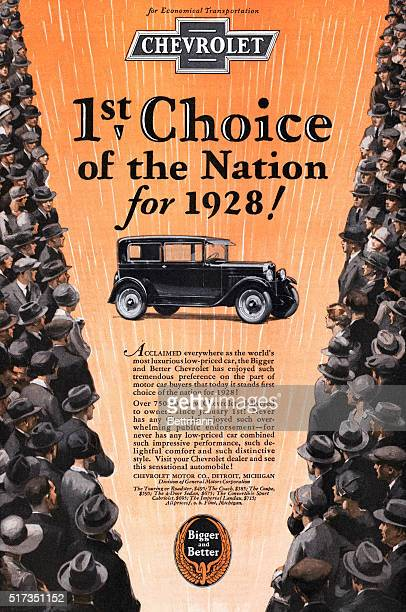 'Chevrolet 1st Choice of the Nation for 1928' automobile advertisement published in the 'Literary Digest' August 4 1928