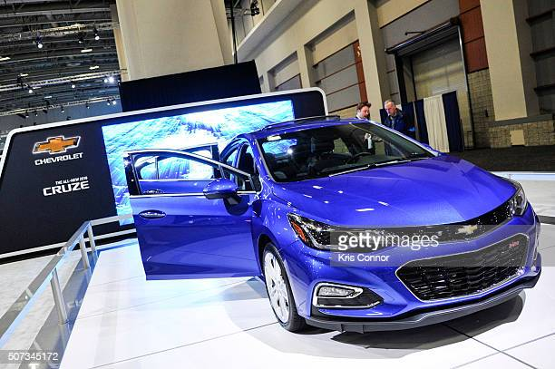 Chevrolet 2016 Cruze is on display during the Washington Auto Show at the Washington Convention Center in Washington DC on January 28 2016