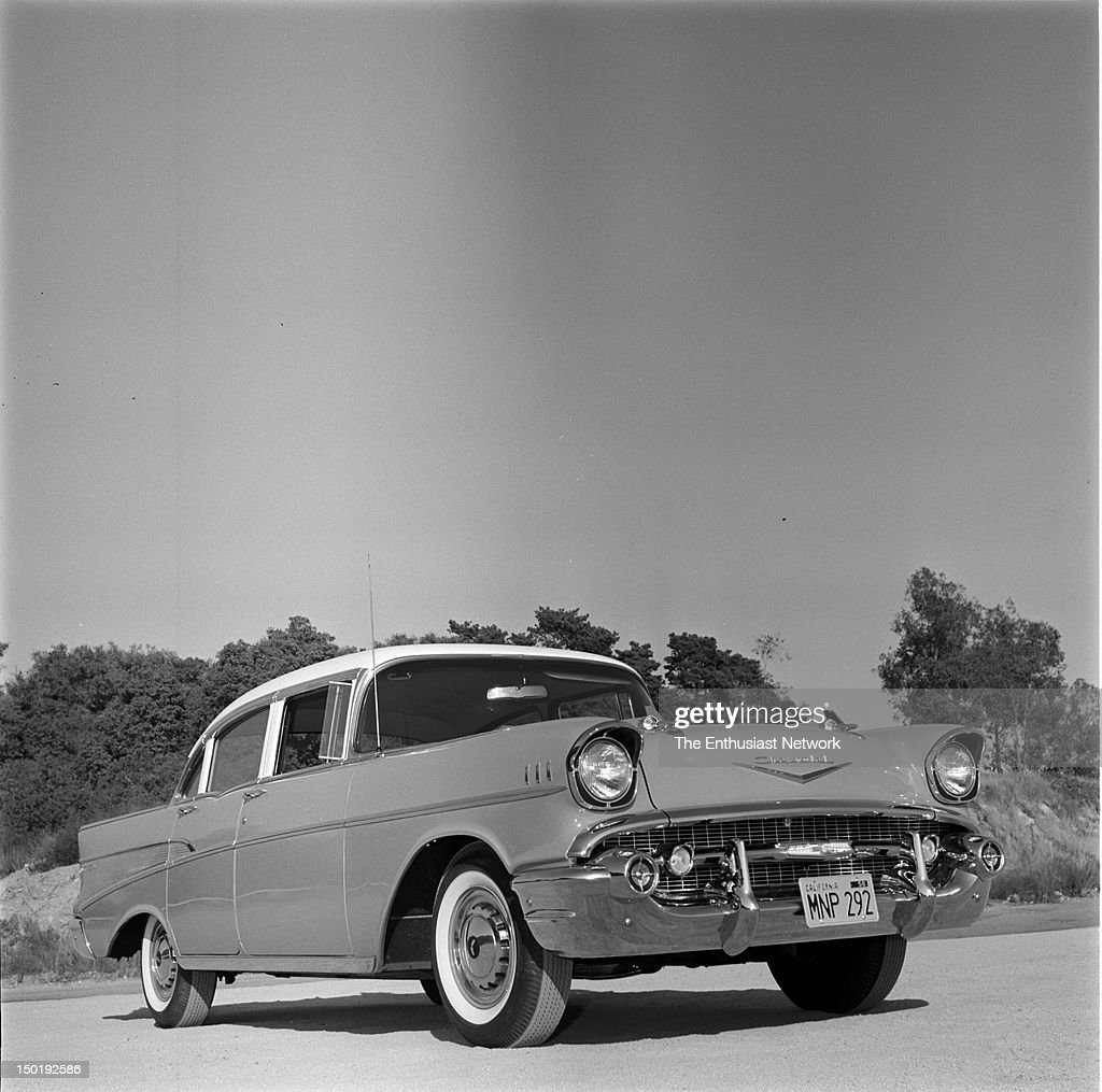 Chevrolet Bel Air 4 Door Photos Focus On The Updated Styling Of 1957 Chevy Hardtop News Photo