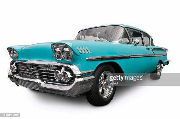 chevrolet bel air from 1958 - vintage car stock pictures, royalty-free photos & images
