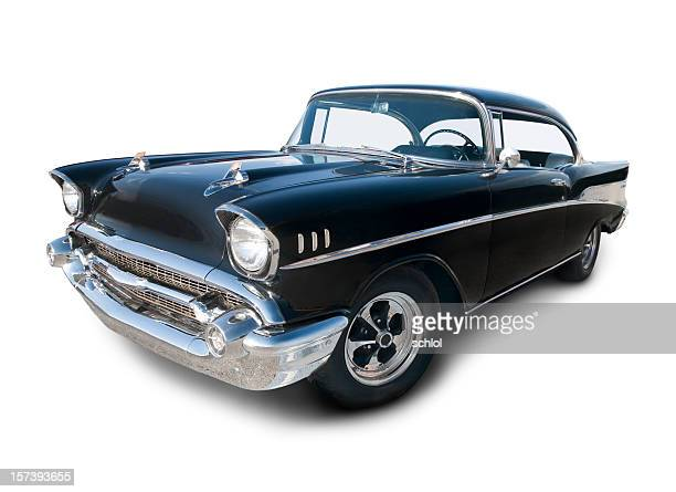 Chevrolet Belair from 1957 in black and chrome color