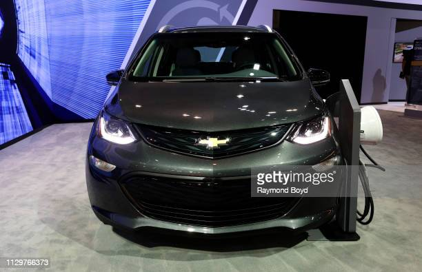 Chevrolet Bolt EV is on display at the 111th Annual Chicago Auto Show at McCormick Place in Chicago Illinois on February 7 2019