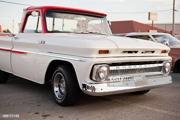 chevrolet c10 pickup truck - chevrolet stock pictures, royalty-free photos & images