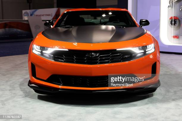 Chevrolet Camaro is on display at the 111th Annual Chicago Auto Show at McCormick Place in Chicago Illinois on February 7 2019