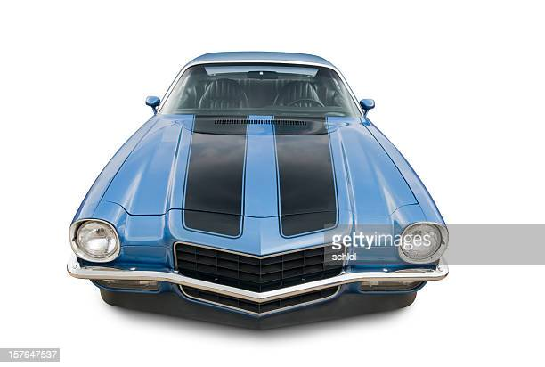 chevrolet camaro - 1970s muscle cars stock pictures, royalty-free photos & images