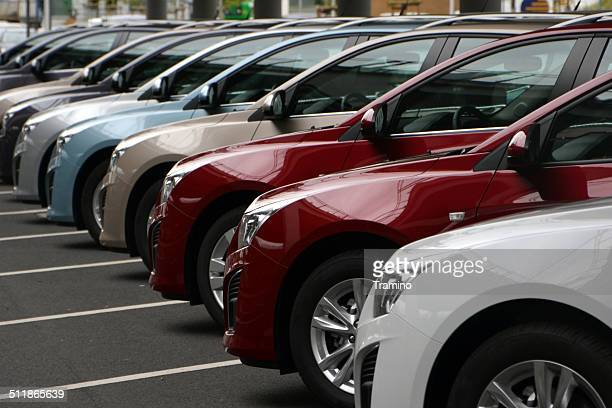chevrolet cars in a row - chevrolet stock pictures, royalty-free photos & images