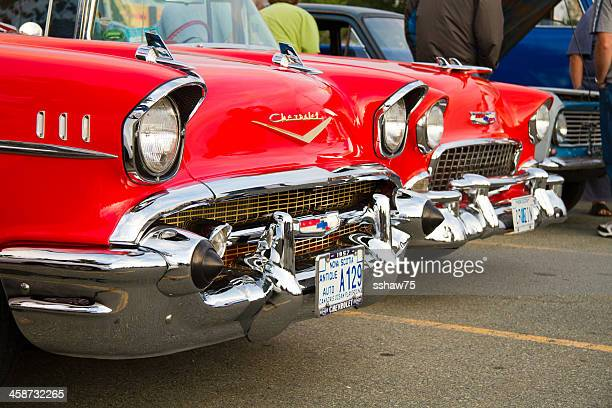chevrolet classic automobiles from the 1950s - chevrolet stock pictures, royalty-free photos & images