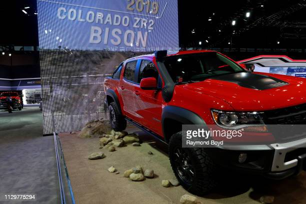 Chevrolet Colorado ZR2 Bison is on display at the 111th Annual Chicago Auto Show at McCormick Place in Chicago Illinois on February 7 2019