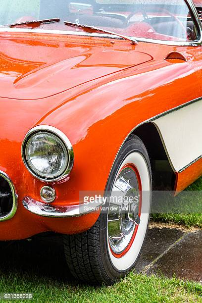 "chevrolet corvette c1 classic sports car detail - ""sjoerd van der wal"" fotografías e imágenes de stock"