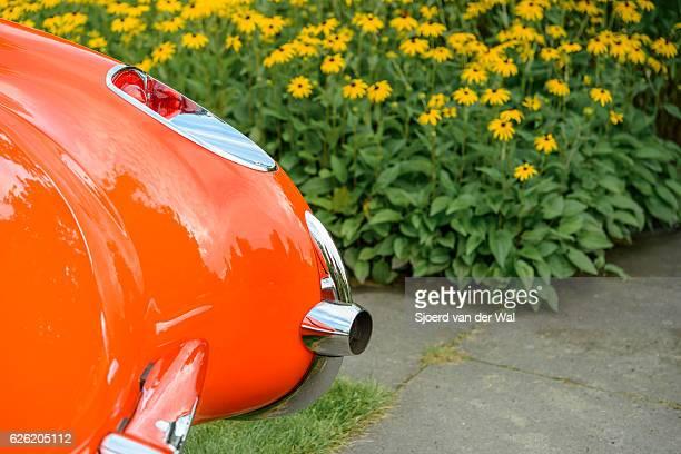"chevrolet corvette c1 classic sports car detail - ""sjoerd van der wal"" stock pictures, royalty-free photos & images"