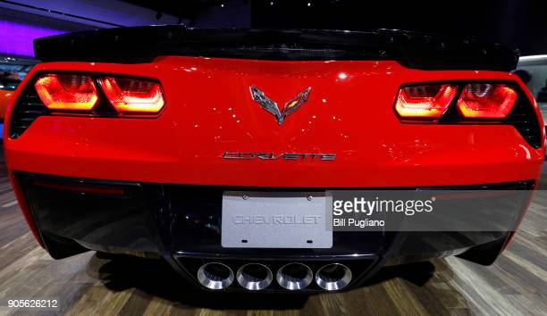 Chevrolet Corvette is shown at the 2018 North American International Auto Show January 16 2018 in Detroit Michigan More than 5100 journalists from 61...