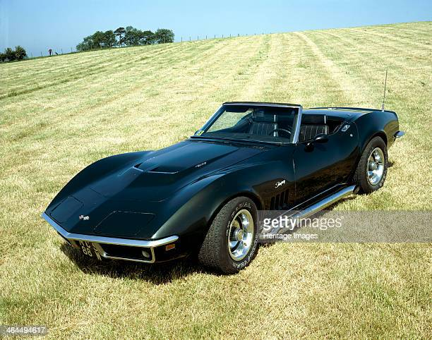 Chevrolet Corvette Stingray in a field